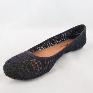LUCKY BRAND Edmonda Blue Lace Flats Size 6.5M